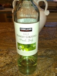 Kirkland Pinot Grigio, from Costco of course